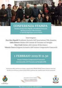conferenza stampa dell'Associazione Villa Amantea - Trezzano sul Naviglio