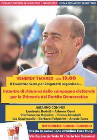 Chiusura della campagna per le primarie - Sesto San Giovanni