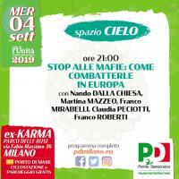 Incontro antimafia alla Festa PD a Milano