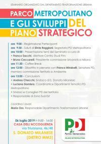Seminario: Parco Metropolitano e gli sviluppi del Piano Strategico - San Donato Milanese