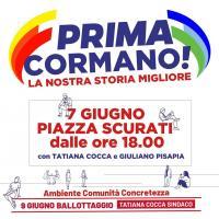 Chiusura di campagna elettorale a Cormano