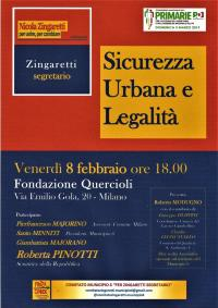 Sicurezza Urbana e Legalità - Milano
