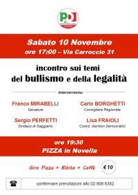 Incontro su bullismo e legalità a Gaggiano