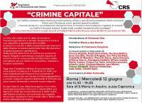 "Convegno ""Crimine Capitale"" a Roma"