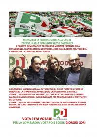 Presentazione dei candidati alle elezioni a Cologno Monzese