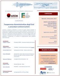 Trasparenza Amministrativa degli Enti e procedure anticorruzione