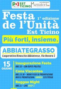 Festa de l'Unità Est Ticino ad Abbiategrasso