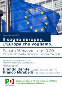 Il sogno europeo - Incontro a Pratocentenaro, Milano