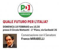 """Incontro """"Quale futuro per l'Italia"""" a Carugate"""