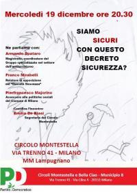 Incontro sul Decreto Sicurezza a Lampugnano - Milano