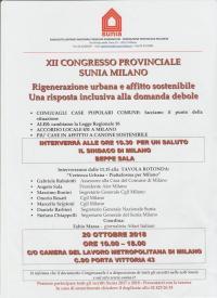 Congresso del Sunia di Milano