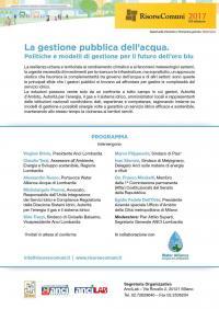La gestione pubblica dell'acqua - Milano