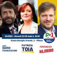 Gazebo PD sul Naviglio Grande a Milano
