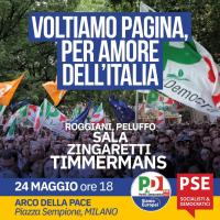Chiusura della campagna elettorale a Milano