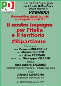 Il nostro impegno per l'Italia e il territorio - Voghera