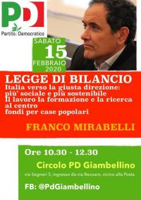 Legge di Bilancio 2020 - Giambellino, Milano