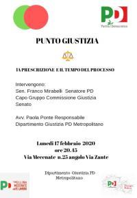 La Prescrizione e il tempo del Processo - Milano, Mecenate