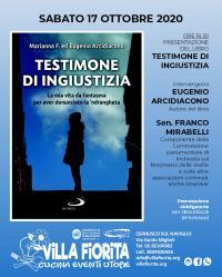 """Presentazione del libro """"Testimone di Ingiustizia"""" - Villa Fiorita"""