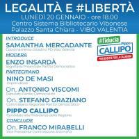 Legalità e Libertà - Campagna elettorale a Vibo Valentia