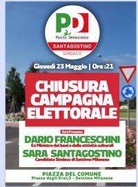 Chiusura della campagna elettorale a Settimo Milanese